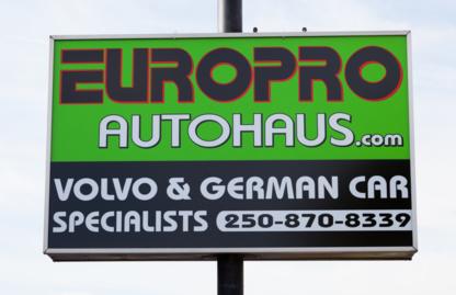 Europro Autohaus Ltd - Réparation et entretien d'auto - 250-870-8339