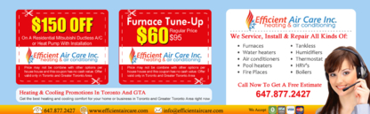 Efficient Air Care Inc - Air Conditioning Contractors - 647-877-2427
