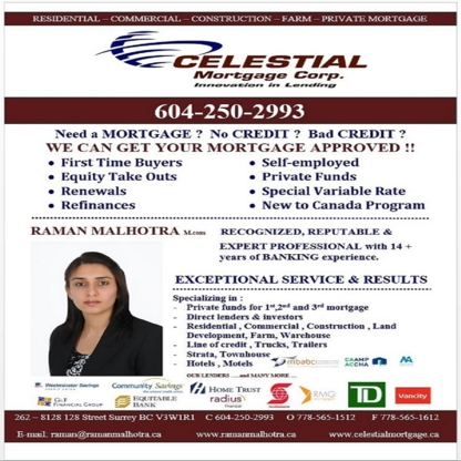 Celestial Mortgage Corp - Mortgages - 778-565-1512