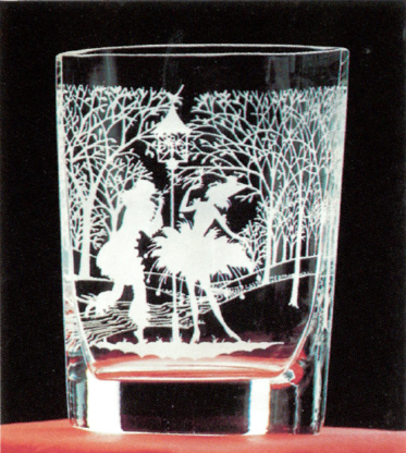 Angel Etchings - Carved & Blown Ornamental Glass - 604-534-5005