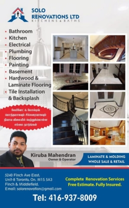 Solo Renovations - Home Improvements & Renovations - 416-937-8009