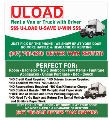 Uload - Moving Services & Storage Facilities - 647-786-9248