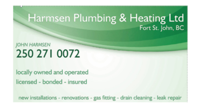 Harmsen Plumbing & Heating Ltd - Heating Contractors - 250-271-0072