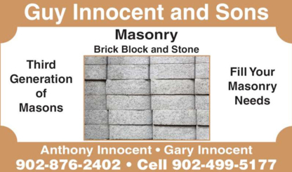 View Guy Innocent & Sons Masonry's Halifax profile