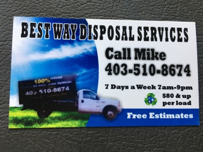 View Best Way Disposal Services's Calgary profile