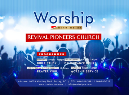 Revival Pioneers Church - Churches & Other Places of Worship - 604-916-5181
