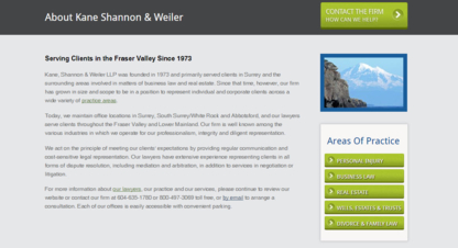 Kane Shannon & Weiler - Estate Lawyers - 604-591-7321