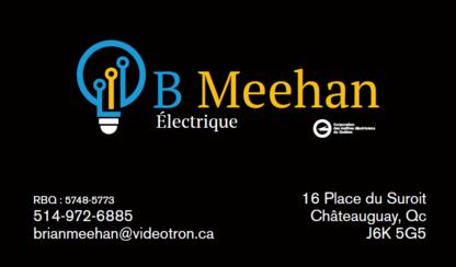 B Meehan Électrique Inc. - Électriciens - 514-972-6885