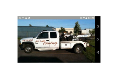 Ali's Towing - Vehicle Towing - 416-716-4343