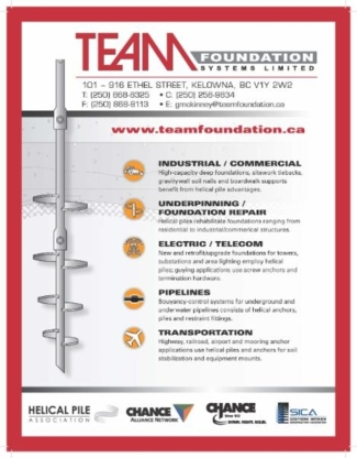 Team Foundation Systems Ltd - Foundation Contractors - 250-868-8325