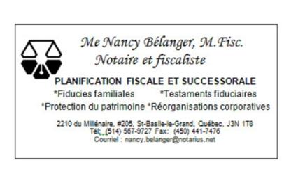 Me Nancy Bélanger, M.Fisc. notaire et fiscaliste - Notaries - 514-567-9727