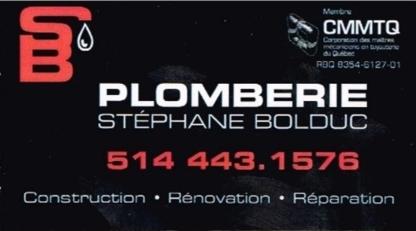 Plomberie Stéphane Bolduc - Plumbers & Plumbing Contractors - 514-443-1576
