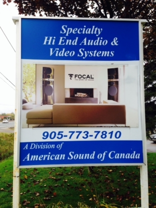 American Sound Of Canada - Stereo Equipment Sales & Services - 905-773-7810