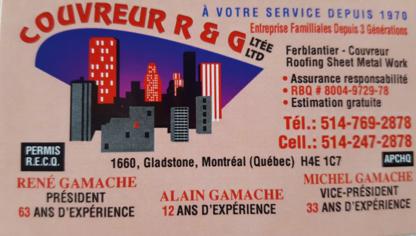 View Couvreur R & G Ltée's Lachine profile