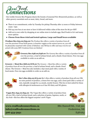 Real Food Connections - Aliments naturels et biologiques - 506-454-5931