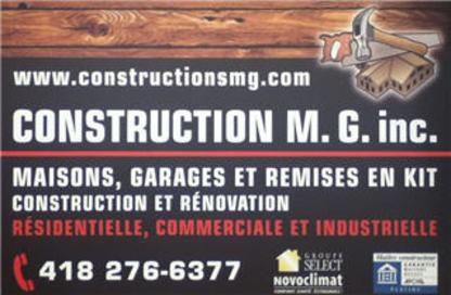 Construction MG Inc - Building Contractors - 418-276-6377