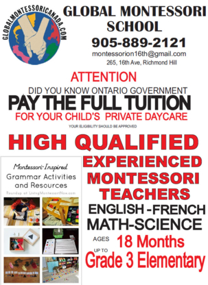 Global Montessori - Kindergartens & Pre-school Nurseries - 905-889-2121