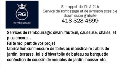 View Rembourrage RG's Trois-Rivières profile