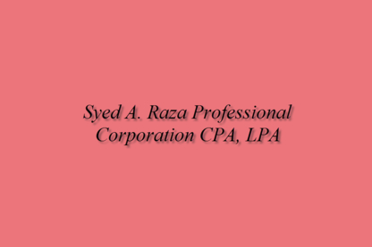 Syed A Raza Professional Corporation CPA, LPA - Chartered Professional Accountants (CPA) - 647-999-5536