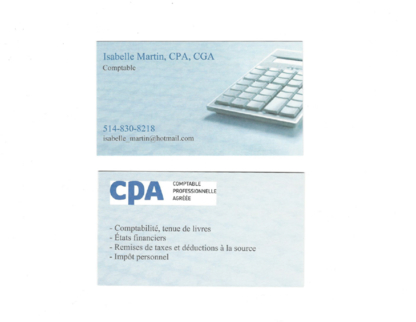 View Isabelle Martin CPA CGA's Lachine profile