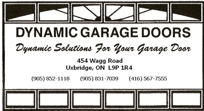 Dynamic Garage Doors & Windows - Garage Door Openers - 905-831-7039