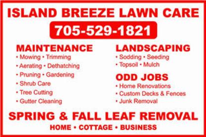 Island Breeze Lawn Care - Landscape Contractors & Designers - 705-529-1821
