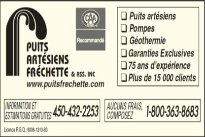 Voir le profil de Puits Artésiens Fréchette & Ass Inc - Pont-Viau