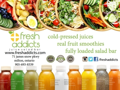 Fresh Addicts Inc. - Fruit & Vegetable Juices - 905-693-8339