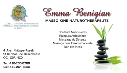 Emma Benigian Massothérapie - Massothérapeutes
