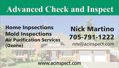 Advanced Check and Inspect - Home Inspection