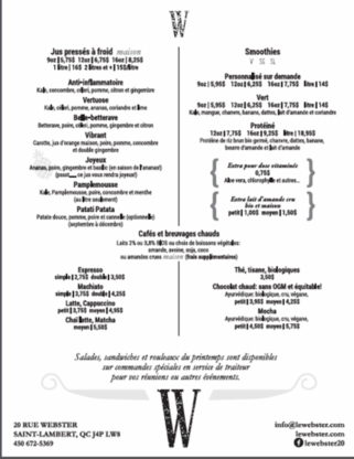 Le Webster - Restaurants - 450-672-5369