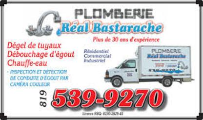 Plomberie Réal Bastarache Inc - Plombiers et entrepreneurs en plomberie - 819-539-9270