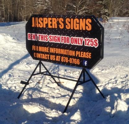 Jasper's Signs rental - Signs - 506-878-0766