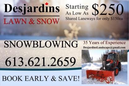 Desjardins Land & Snow - Landscape Contractors & Designers - 613-621-2659