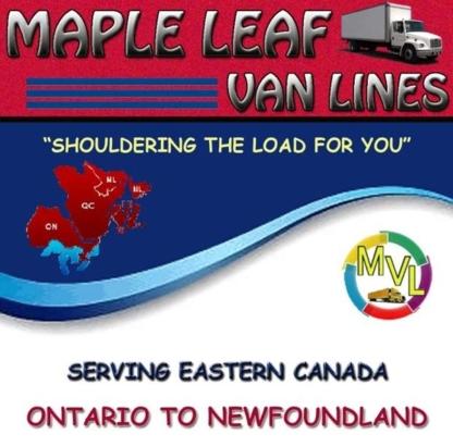 Maple Leaf Van Lines Ltd - Déménagement et entreposage - 902-830-3383