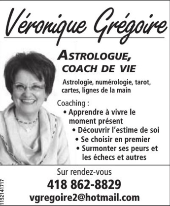 Véronique Grégoire Astrologue et Coach de Vie - Coaching et développement personnel