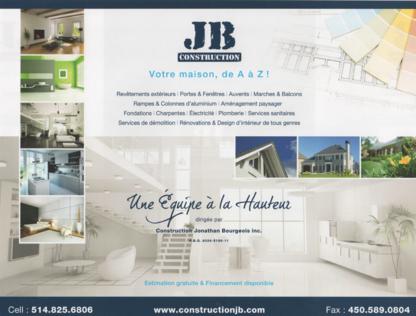 Revêtement Jonathan Bourgeois - General Contractors - 514-825-6806