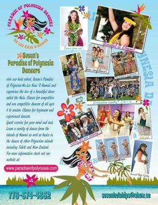Susan's Paradise of Polynesia - Cours de danse - 778-574-4852