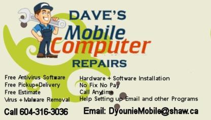Dave's Mobile Computer Repair - Computer Repair & Cleaning