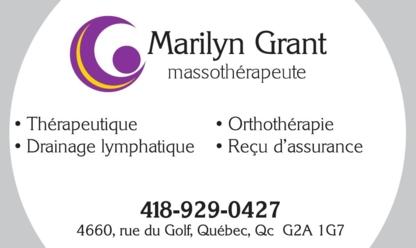Marilyn Grant Massothérapeute - Massages et traitements alternatifs - 418-929-0427