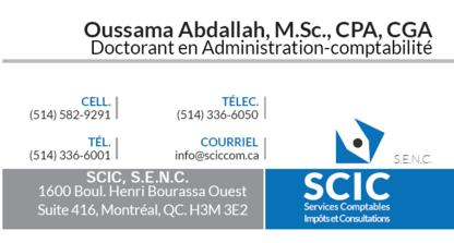 SCIC, Société de CPA - Oussama Abdallah CPA, CGA - Accountants