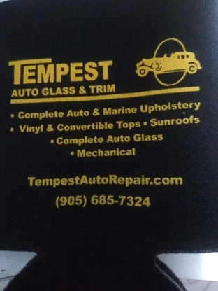 Tempest Auto Glass & Trim - Car Seat Covers, Tops & Upholstery - 905-685-7324