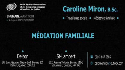 Caroline Miron Médiatrice Familiale - Services de médiation - 514-647-5885