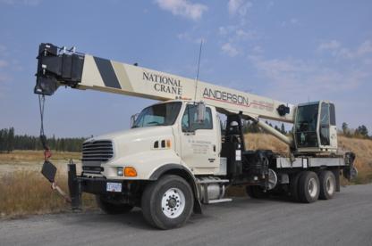 R W Anderson Contracting Ltd - Excavation Contractors - 250-427-5968