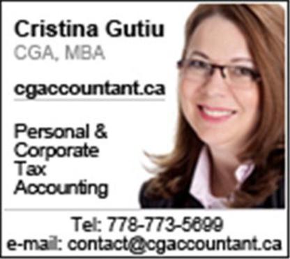 Cristina Gutiu - Chartered Professional Accountants (CPA) - 778-773-5699