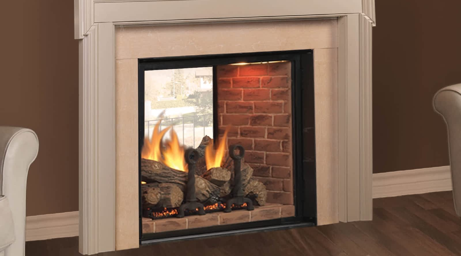 heating gas real fire fires shop turfrey flame landscape fireplace