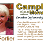 Campbell Monument - Monuments & Tombstones - 613-622-7755