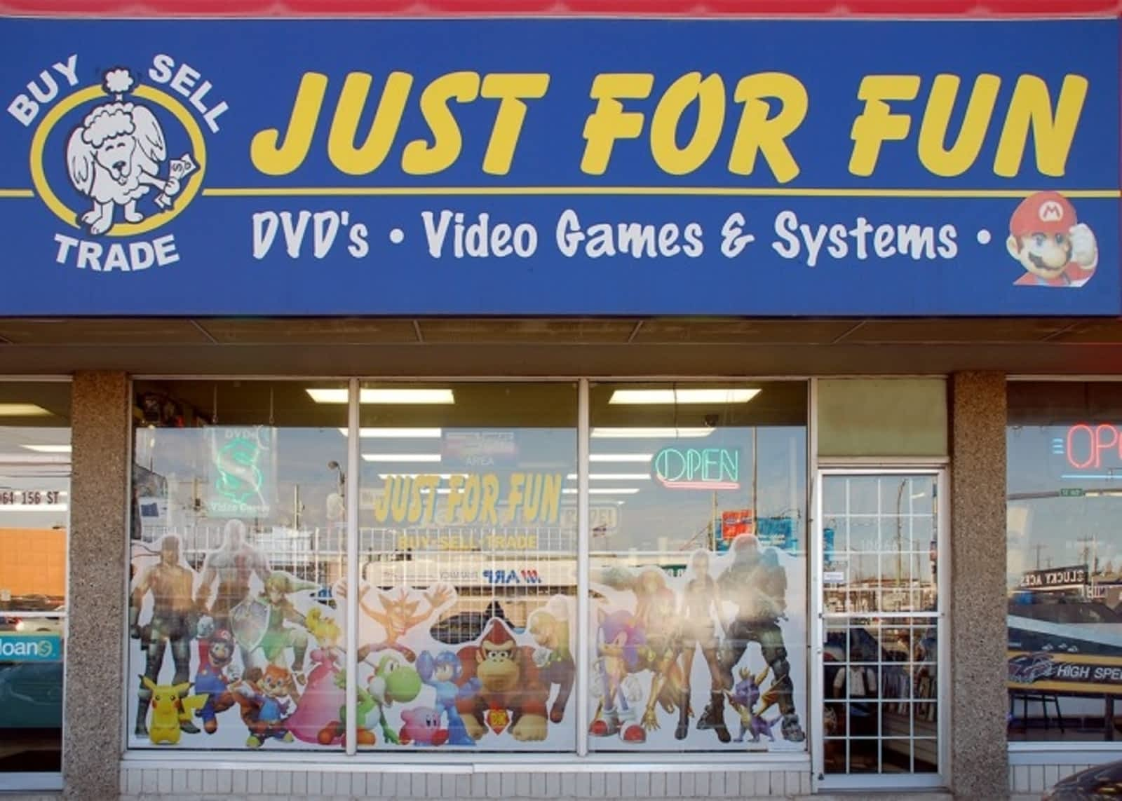 Just For Fun Video Games Edmonton Ab