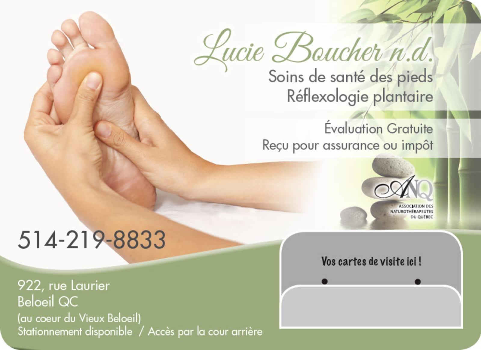 Lucie Boucher ND Soin Des Pieds Et Reflexologie Plantaire