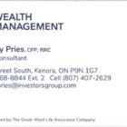 Kimberley Pries IG Wealth Management - Health, Travel & Life Insurance - 807-407-2629